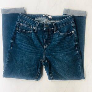 Lauren Conrad Cropped Skinny Jeans Sz 8P Dark Wash